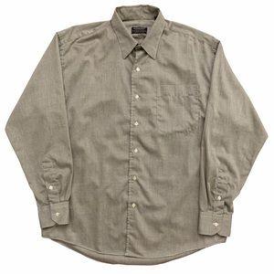 VTG Gitman Bros Nordstrom Dress Shirt Gray 34-18